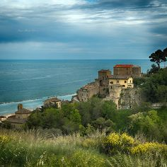 Grottammare, Italy. Close to Rome, close to Venice, far away from tourists. A beautiful little seaside village with gorgeous beaches and sandstone villas.