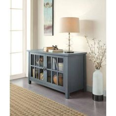 """Better Homes and Gardens Blue TV Stand and Console for TVs up to 55"""" - Walmart.com"""