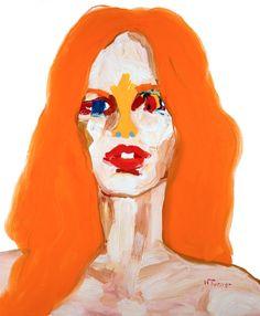 "Saatchi Online Artist: Neal Turner; Oil, 2012, Painting ""Brigitte Bardot"""