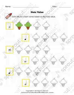 Note Value - SproutBeat - Bildung Learning Music Notes, Music Math, Music Classroom, Music Education, Music Lessons For Kids, Music For Kids, Sheet Music Art, Piano Music, Music Theory Worksheets