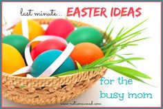 Easter is only days away. Be encouraged by this list of  simple and frugal ways to make it memorable!