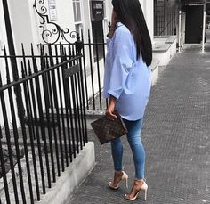 Image about fashion in spring outfit by xoxo on We Heart It Swag Outfits, Mode Outfits, Classy Outfits, Chic Outfits, Spring Outfits, Girl Outfits, Fashion Outfits, Denim Fashion, Look Fashion