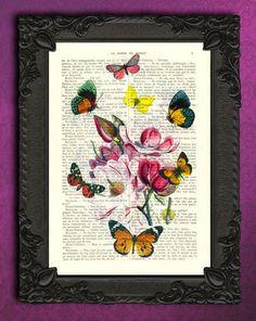 Impressions numériques, Magnolia avec des papillons, impression est une création…