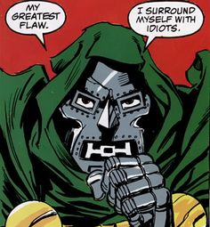Who hasn't had this moment at work?  [From Avengers: Emperor Doom, 1986.]