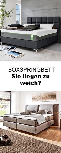 BOXSPRINGBETT 180 cm x 200 cm in Holz, Textil Braun, Eichefarben