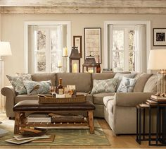 Pearce 2-Piece L-Shape Sectional - everydaysuede™ | Pottery Barn