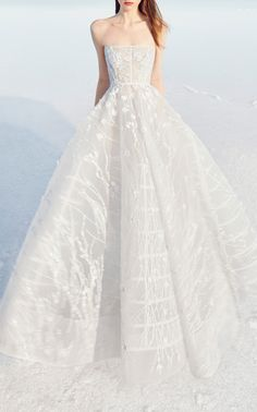 Gigi Strapless Lace Embellished Gown by ALEX PERRY BRIDE for Preorder on Moda Operandi
