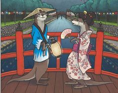 Kawauso- Japanese folklore: river otters that shapeshift into humans to eat them or play tricks on them.