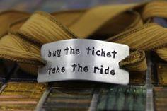 Buy the Ticket Take the Ride Bracelet / Custom by BobbieJoDesigns, $29.99