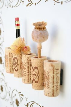 Wine Cork Magnets DIY Set of 5