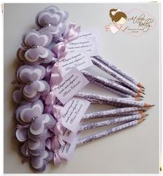Lápis com ponteiras de Borboleta