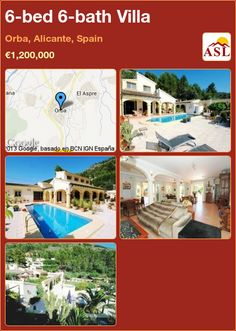 6-bed 6-bath Villa in Orba, Alicante, Spain ►€1,200,000 #PropertyForSaleInSpain