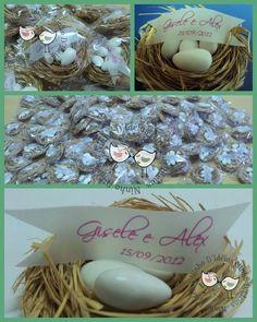 Ninho com amêndoas imitando os ovinhos! http://ninhodideias.blogspot.com.br/