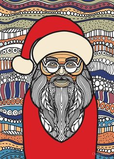 """""""drawing santa claus zentangle style coloring book"""" by Chris olivier Zentangle, Tangle Doodle, Framed Prints, Canvas Prints, Art Prints, How To Draw Santa, Drawing Santa, Wall Tapestry, Decorative Throw Pillows"""