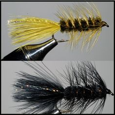 Fish these Woolly Bugger Streamers across stream with a slow swimming action after they sink deeply. These are effective for both trout and bass in all types of water.