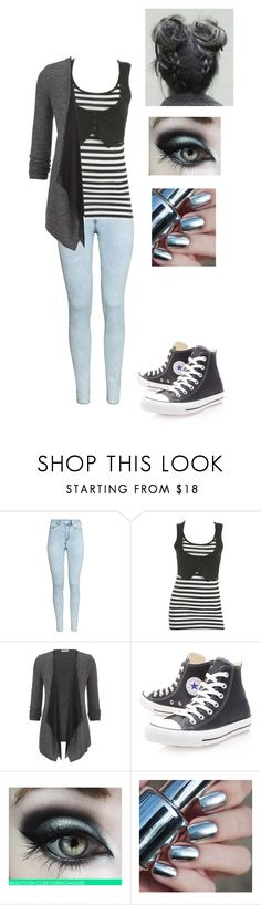 """""""Untitled #528"""" by sweet-strawberry-fairy ❤ liked on Polyvore featuring H&M, Wet Seal, maurices and Converse"""
