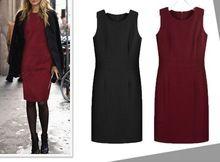Hot fashion 2017 Autumn and winter woolen one-piece dress fashion slim thickening woolen dress tank dress Size XS-XXXXL - alvipastore.com