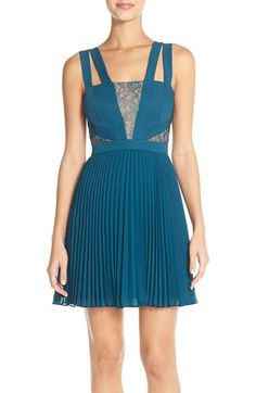 BCBGMAXAZRIA 'Tenzin' Pleat Georgette Fit & Flare Dress available at #Nordstrom