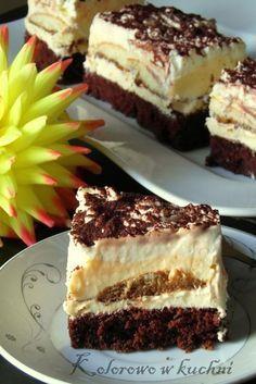 ciasto kapitańskie 2 Polish Desserts, Polish Recipes, Cookie Desserts, Unique Desserts, Delicious Desserts, Yummy Food, Food Cakes, Cupcake Cakes, Baking Recipes