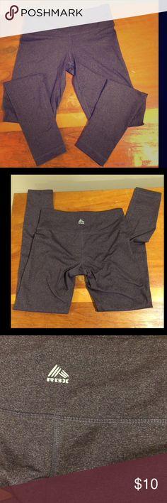 RBX fitness leggings mid-cut - full length - soft spandex material -- speckle purple Pants Leggings