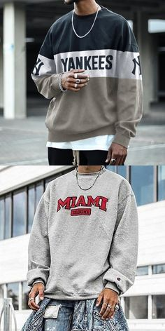 Men's Modern Casual Printed Color Long Sleeve Sweatshirt. #mens fashion #mens sweatshirts #Print #discount #fall #mens hoodies #men's long sleeve #men sweatshirts Dope Outfits For Guys, Stylish Mens Outfits, Casual Outfits, Urban Outfits, Retro Outfits, Formal Casual, Mens Clothing Styles, Pull, Mens Sweatshirts