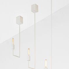 Balance (3, 4, 5) - dim var - Laiton laqué blanc - Patrick Hourcade pour LB Studio / Collection Graphiques Electriques