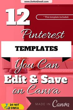 Free http://Canva.com Pinterest Templates You Can Edit & Save