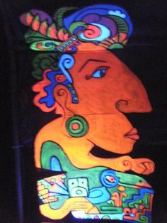 Mayan Event Decor. One of two entrance guardians for D.O.O.T. event on Maui, HI.