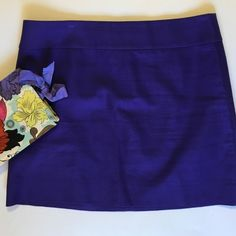 J. Crew Factory Mini Skirt Adorable eggplant colored mini skirt from J.Crew. In fantastic condition with no signs of wear or damage. Cotton, sits below waist, back zip.                                                                                                                                                                     Length: 16.5 in. J. Crew Skirts Mini