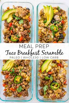 Healthy Breakfast Meal Prep, Easy Healthy Meal Prep, Paleo Meal Prep, Healthy Low Carb Recipes, Clean Recipes, Whole Food Recipes, Easy Meals, Meal Prep Low Carb, Eating Healthy