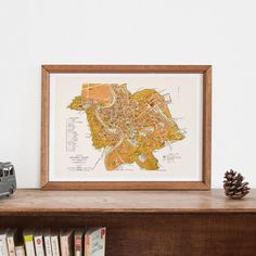 ROME ITALY MAP -  Map of Rome,  Historical Roma Map, Antique Map Wall Art, Professional Reproduction