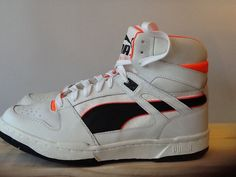 Vintage Retro Puma Invader Hi Top Basketball Boots Shoes 1990 Deadstock Trainers | eBay
