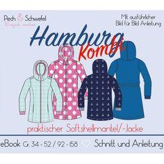 Ebook - Kombi Softshellmantel/ -Jacke Hamburg Gr. 34 - 52 & 92 – 158