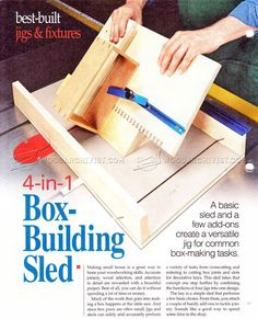 #1617 Box Making Sled Plan - Joinery Tips, Jigs and Techniques