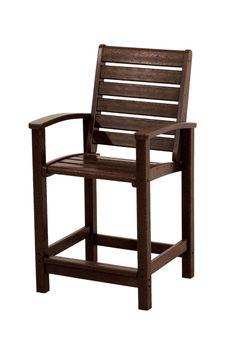 Polywood 1911-MA Signature Counter Chair in Mahogany