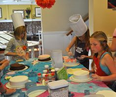 Cake Boss themed birthday party fit for a tween.