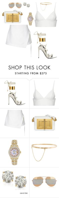 """""""DayParty 2K17"""" by mi-fashion-theory ❤ liked on Polyvore featuring T By Alexander Wang, Dion Lee, Rolex, Eddie Borgo, Auriya and Christian Dior"""