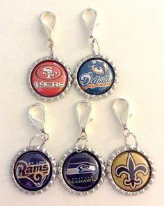 Sports Theme Bottle Cap Key Rings