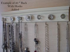 This wall hung rack with its attractive finish and selection of cabinet knobs will add beauty and function to your storage and organizational needs So