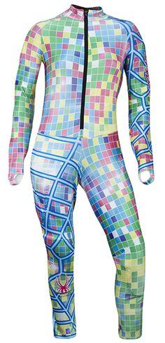 Spyder Womens Performance GS Race Suit: Mosaic Blue: Item 2215 @ ARTECHSKI.com: