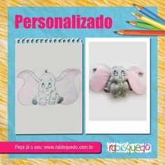 brinquedo personalizado Dumbo - Rabisquedo  www.rabisquedo.com.br