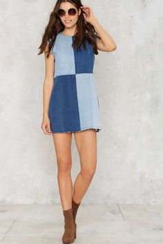 After Party Vintage Patch My Drift Denim Dress - After Party | Best Sellers | Day