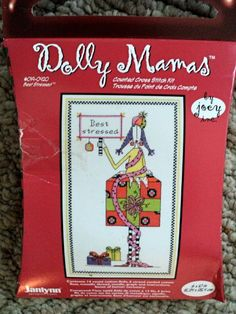 Dolly Mamas Best stressed Counted Cross by DocksideDesignsEtc, $7.75