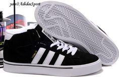sneakers for cheap 8e6e4 00bad Adidas Campus Vulc Medio Skate Zapatos Hombres Negro Blanco Baratas Venta