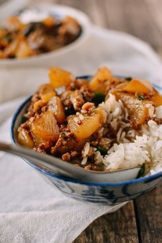 Braised Turnip Rice Bowls recipe, by thewoksoflife.com