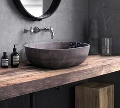 Bring gorgeous antique design to your bathroom or wash room with the stunning Laila - Vintage Antique Cement Wash Basin. Made from glazed ceramic. Industrial Bathroom Design, Vintage Industrial Decor, Bathroom Design Luxury, Industrial House, Modern Luxury Bathroom, Minimalist Bathroom Design, Rustic Bathroom Designs, Modern Sink, Luxury Bathrooms