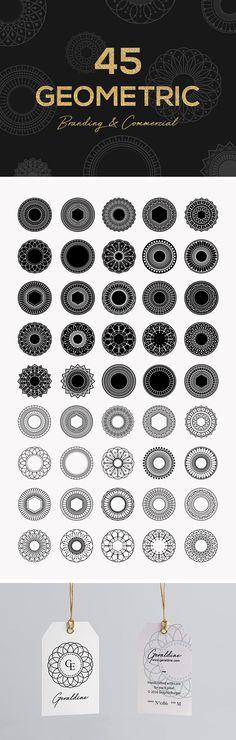45 Geometric Vector Shapes