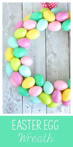 Easy Easter Egg Wreath Tutorial