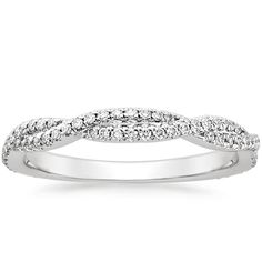18K White Gold Petite Luxe Twisted Vine Diamond Ring (1/4 ct. tw.) from Brilliant Earth