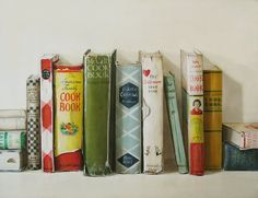 """Old Cookbooks.. I put this under """"decorating"""" because they really are decorative, but also because there are so many beautiful decorating ideas in this blog!"""